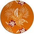 rug #1300595 | round orange rug