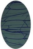 rug #1301523 | oval blue-green natural rug