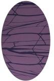 rug #1301579 | oval purple rug