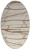 rug #1301643 | oval beige natural rug