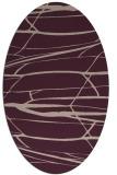 rug #1301651 | oval pink natural rug