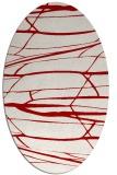 rug #1301743 | oval red natural rug
