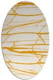 rug #1301839 | oval light-orange popular rug