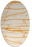 rug #1301847 | oval light-orange popular rug