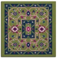 rug #1302999 | square green traditional rug
