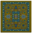 rug #1303031 | square blue-green traditional rug