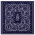 rug #1303039 | square blue-violet borders rug