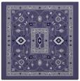 rug #1303043 | square blue-violet borders rug