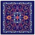 rug #1303055 | square blue-violet borders rug