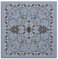 rug #1303063 | square blue-violet borders rug