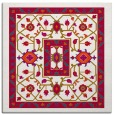 rug #1303071 | square red traditional rug