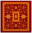 rug #1303167 | square red-orange borders rug