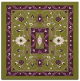 rug #1303203 | square green traditional rug