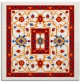rug #1303215 | square red borders rug