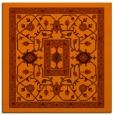 rug #1303231 | square red-orange borders rug