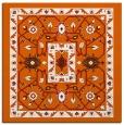 rug #1303243 | square red-orange traditional rug