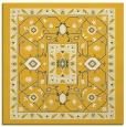 rug #1303275   square yellow borders rug