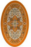 rug #1303323 | oval orange traditional rug