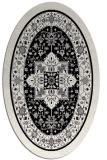rug #1303327 | oval white borders rug