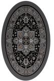 rug #1303331   oval black borders rug