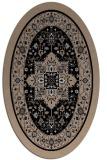 rug #1303335 | oval black borders rug