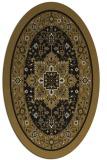 rug #1303343 | oval black traditional rug