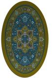 rug #1303399 | oval green traditional rug