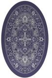 rug #1303411 | oval blue-violet traditional rug