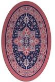 rug #1303415 | oval blue-violet traditional rug