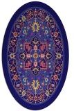 rug #1303423 | oval blue-violet borders rug
