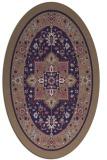 rug #1303427 | oval beige popular rug