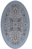 rug #1303431 | oval blue-violet borders rug