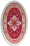 rug #1303439 | oval red traditional rug