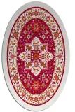 rug #1303439 | oval red rug