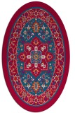 rug #1303443 | oval blue-green rug