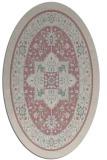 rug #1303447 | oval pink popular rug