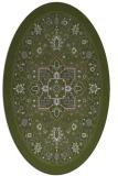 rug #1303463 | oval green traditional rug