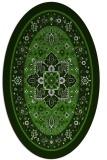 rug #1303467 | oval light-green borders rug