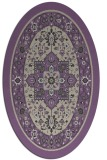 rug #1303511 | oval purple borders rug
