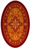 rug #1303535 | oval orange traditional rug