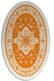 rug #1303539 | oval orange traditional rug