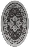rug #1303547 | oval orange borders rug