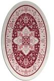 rug #1303555   oval pink borders rug