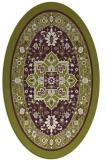 rug #1303571 | oval green borders rug