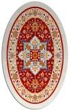 rug #1303583 | oval red borders rug