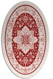 rug #1303591 | oval red traditional rug