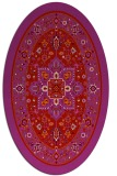 rug #1303595 | oval red borders rug