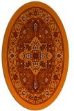 rug #1303599   oval red-orange borders rug