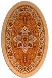 rug #1303603 | oval red-orange borders rug