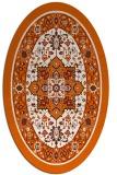 rug #1303611   oval red-orange borders rug